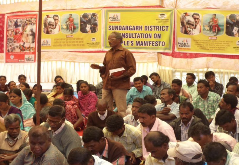 Consultation with tribal leaders, women groups on people's manifesto before general election