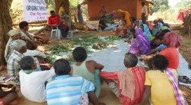 Organic farming training in village