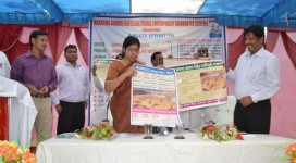 Collector and PD, DRDA, Sundargarh inaugurating IEC materials to address exclusion and discrimination issues in MGNREGS and FRA