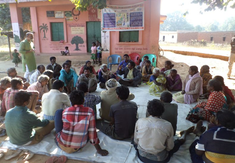 Forest right committee meeting is going on in Sanramloi to claim community forest right.