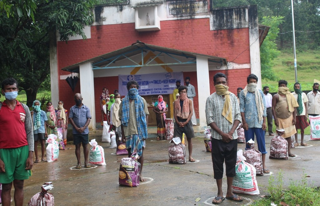 Dry ration relief during COVID in Sanramloi Village by MCC
